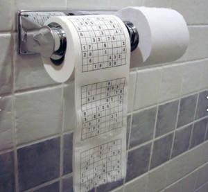 Туалетная бумага с судоку