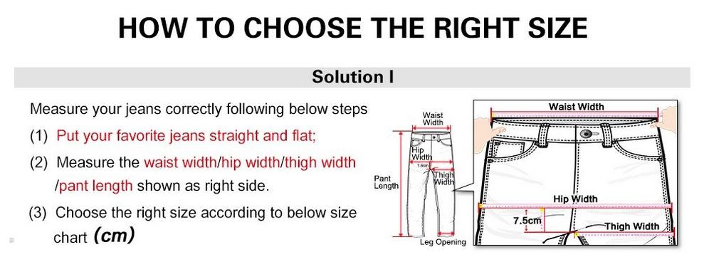 Размер брюк на АлиЭкспресс