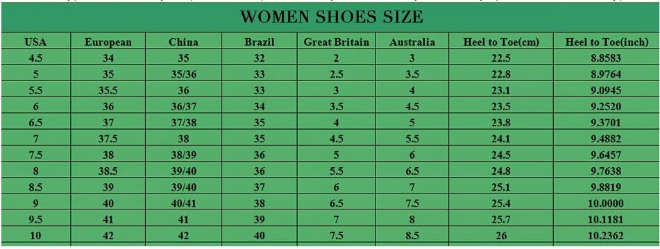 Таблица соответствия размеров обуви на АлиЭкспресс 2