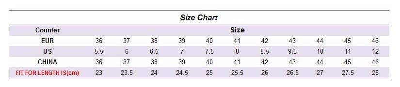 Таблица соответствия размеров обуви на АлиЭкспресс